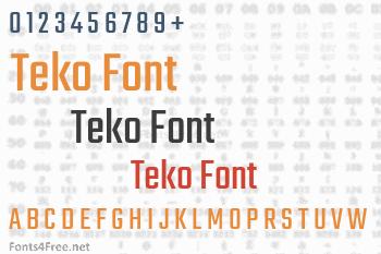Teko Font