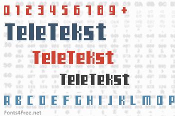TeleTekst Font