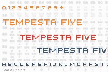 Tempesta Five Font