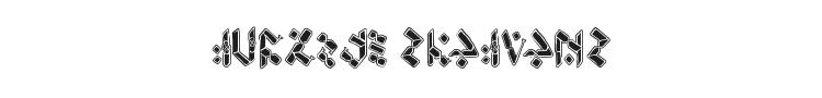 Temphis Knotwork Font Preview