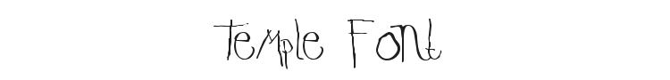 Temple Font