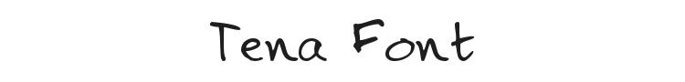 Tena Font Preview