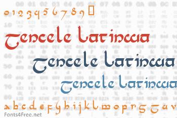 Tencele Latinwa Font