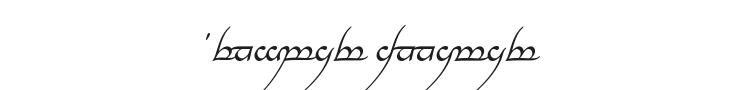 Tengwar Annatar Font Preview
