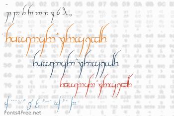 Tengwar Cursive Font