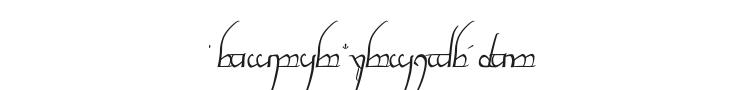 Tengwar Cursive Font Preview