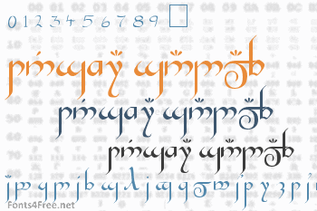 Tengwar Gandalf Font