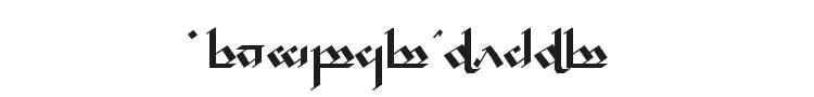 Tengwar Noldor Font Preview