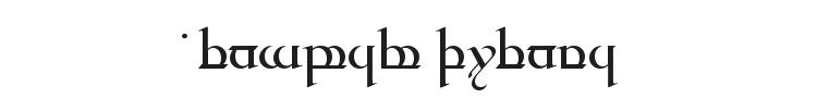Tengwar Quenya Font