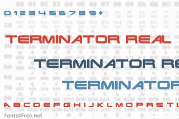 Terminator Real Font