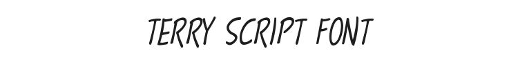 Terry Script Font Preview