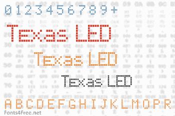 Texas LED Font