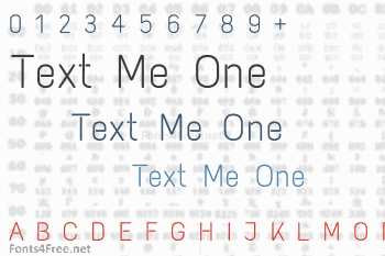 Text Me One Font