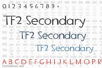 TF2 Secondary Font