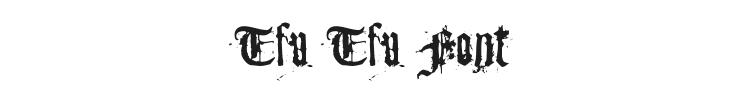 Tfu Tfu Font Preview