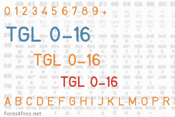 TGL 0-16 Font