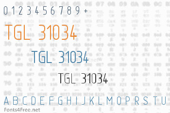TGL 31034 Font