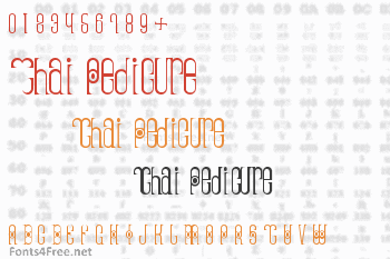 Thai Pedicure Font