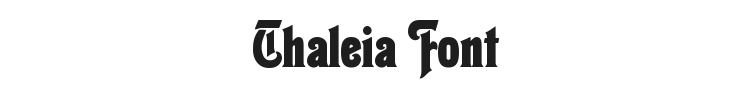 Thaleia Font Preview