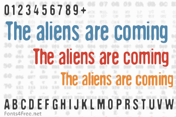 The aliens are coming Font