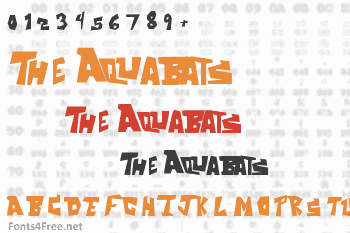 The Aquabats Font