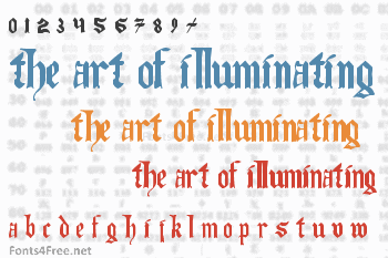 The Art of Illuminating Font
