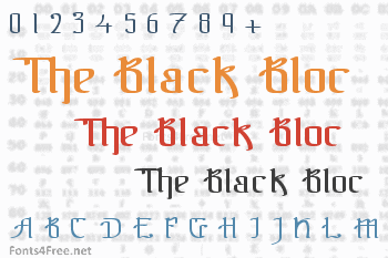 The Black Bloc Font
