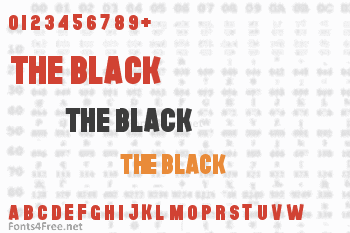 The Black Font Font