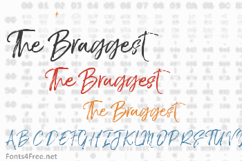 The Braggest Font