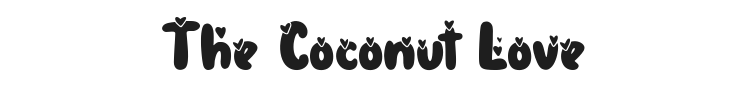 The Coconut Love Font Preview