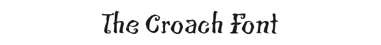 The Croach Font Preview