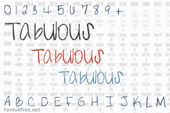 The Definition of Tabulous Font