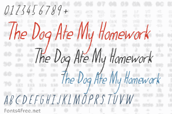 The Dog Ate My Homework Font