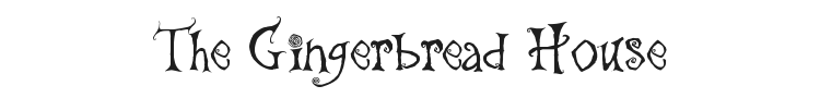 The Gingerbread House Font Preview