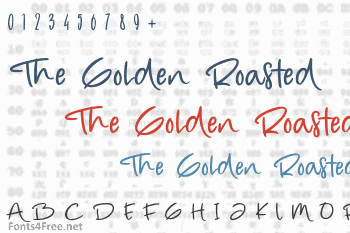 The Golden Roasted Font