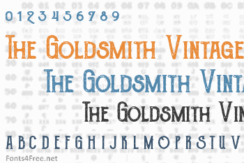 The Goldsmith Vintage Font