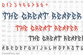 The Great Reaper Font
