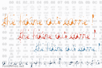The haine au carre ! Font