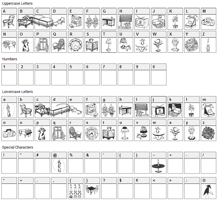 The Ikea Uniform Font Character Map