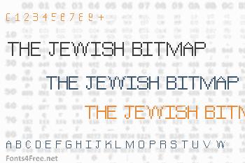The Jewish Bitmap Font