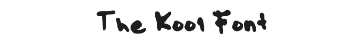 The Kool Font Preview