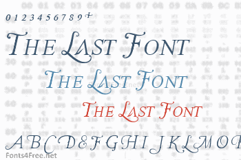 The Last Font Im Wasting On You Font