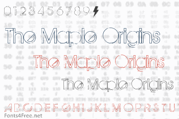 The Maple Origins Font