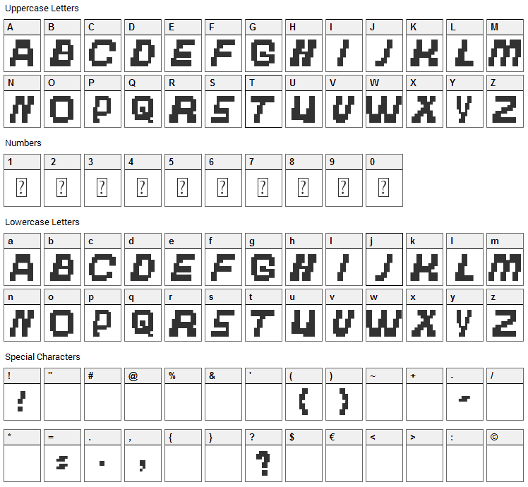 The Other Brothers Font Character Map