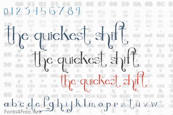 The Quickest Shift Font