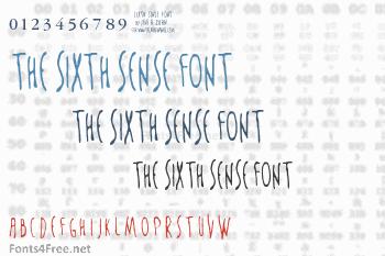 The Sixth Sense Font