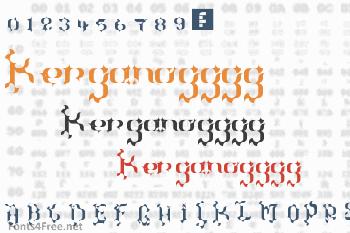 The Terriffic Kerganogggg... Font