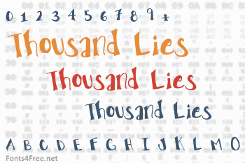 The Truth of a Thousand Lies Font