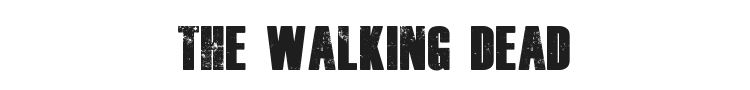 The Walking Dead Font Preview