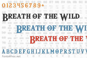 The Wild Breath of Zelda Font